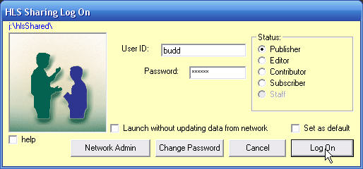 logging on with full networking